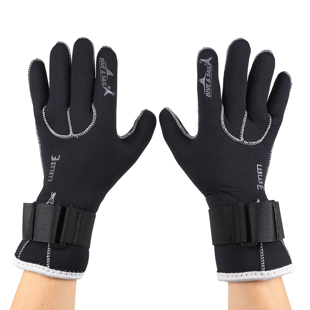 1 pair unisex neoprene warm gloves diving swimming for Neoprene fishing gloves