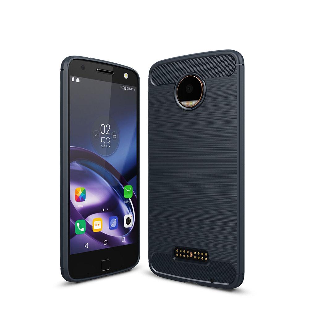 DBA3-ForMotorolaMotoZG5G4Plus-PlaySlimSoft-Carbon-Fiber-Shockproof-Case-Cover